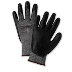West Chester 715SNFLB-2X Lunar Foam Nitrile Palm Dip On Nylon Shell Gloves- Black/Salt & Pepper